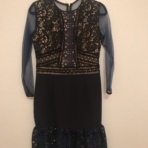 Navy and black lace dress Size S/M